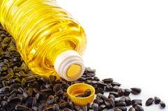De zaden en de olie van de zonnebloem Royalty-vrije Stock Afbeelding