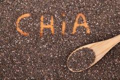 De zaden van Chia Royalty-vrije Stock Afbeeldingen