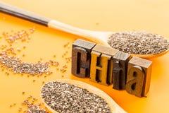 De zaden van Chia stock afbeelding