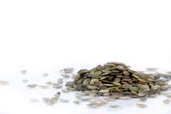 De zaden van de pompoen. Stock Fotografie