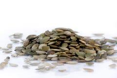 De zaden van de pompoen. stock afbeelding