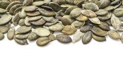De zaden van de pompoen stock afbeelding