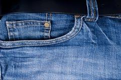 De zak en de riem van jeans royalty-vrije stock fotografie