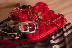 De zak en de riem van vrouwen Royalty-vrije Stock Foto's