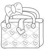 De zak kleurende pagina van dames stock illustratie