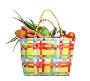 De zak met voedsel Stock Foto's