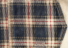 De zak van de controleheup, de achtergrond van de de doektextuur van Jean Stock Afbeelding