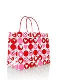 De Zak van de Dag van valentijnskaarten Stock Afbeelding