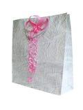 De zak van de gift met een boog Stock Afbeeldingen