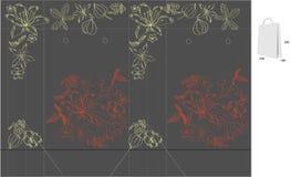 De zak van de gift met matrijzenbesnoeiing (bloemen) royalty-vrije illustratie