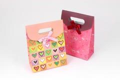 De zak van de gift met rode boog Stock Foto's