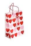 De Zak van de Gift van de valentijnskaart Royalty-vrije Stock Foto's