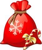 De Zak van de kerstman Stock Afbeeldingen