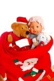 De zak van de kerstman `s stock fotografie