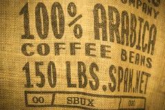 De zak van de koffie Stock Foto's