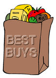 De zak van de kruidenierswinkel Royalty-vrije Stock Fotografie
