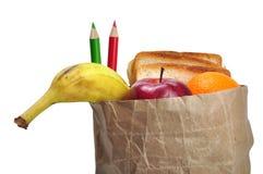 De zak van de lunch - weg royalty-vrije stock foto