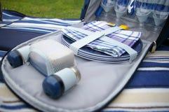 De zak van de picknick Stock Foto's