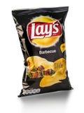 De zak van Frito legt Barbecuechips stock fotografie