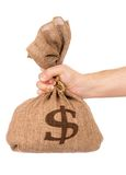 De zak van het geld Royalty-vrije Stock Afbeelding