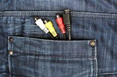 De zak van jeans royalty-vrije stock foto's