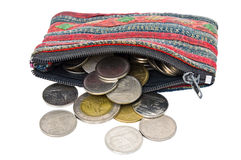 De zak van muntstukken. Stock Afbeelding