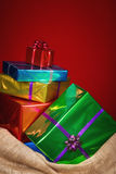 De zak van Sinterklaas met stelt voor Stock Fotografie