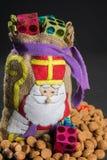 'De zak van Sinterklaas' (St. Nicholas' bag) filled with 'pepern Stock Photo