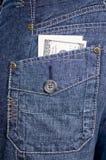 De zakdollars van jeans Stock Afbeelding