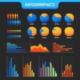 De zaken brengen infografiek in kaart Stock Fotografie
