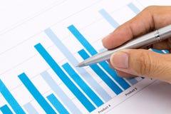 De Zaken en het financiële verslag van de mensenanalyse Royalty-vrije Stock Afbeeldingen