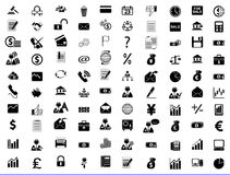 De Zaken, het Bureau & de Financiën van pictogrammen Stock Afbeelding