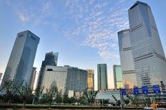 De zaken van China Shanghai en financieel centrum Stock Afbeeldingen