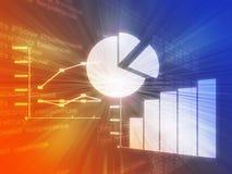 De zaken van de spreadsheet brengen illustratie in kaart Stock Fotografie