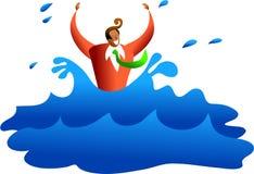 De zaken van de verdrinking Stock Afbeelding