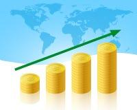 De zaken van de verhoging Stock Afbeeldingen