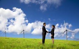 De zaken van Eco en bedrijfsmensen Stock Afbeeldingen