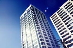 De zaken van het de flatflatgebouw met koopflats van de luxe stock foto