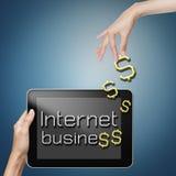 De zaken van Internet. Stock Afbeeldingen