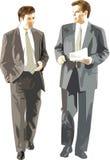 De zakenlieden bespreken Stock Fotografie