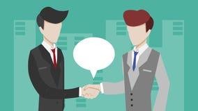 De zakenlieden maken overeenkomst Stock Fotografie