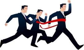 De zakenlieden rennen Stock Foto's