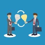 De zakenlieden ruilen ideeën Het ruilen van concept royalty-vrije illustratie