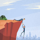 De zakenluiholding overhandigt Cliff Support Concept royalty-vrije illustratie