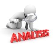 De zakenman analyseert Royalty-vrije Stock Afbeelding