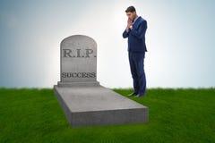 De zakenman die de dood van succes rouwen Royalty-vrije Stock Fotografie
