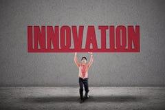 De zakenman draagt innovatie royalty-vrije illustratie