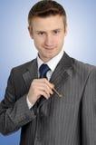De zakenman kent het geheim Stock Fotografie