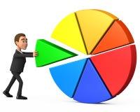 De zakenman levert een bijdrage tot de gemeenschappelijke oorzaak Stock Afbeelding
