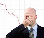 De zakenman lijdt aan een hoofdpijn royalty-vrije stock afbeelding